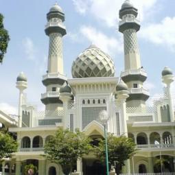 masjid agung jami' malang depan
