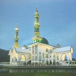 masjid agung darussalam depan